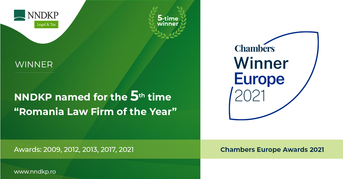 NNDKP Romania Law Firm of the Year 2021